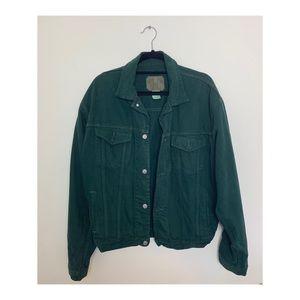 Vintage Oversized, Hunter Green, Gap Denim Jacket